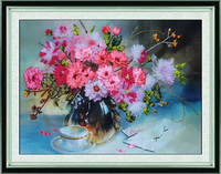 DIY ribbon embroidery kits for beginners needlework kits Chinese cross stitch 3D Series Home Office Decoration embroidery flower