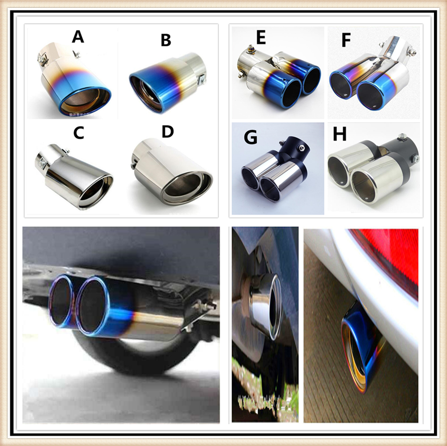 The New type of Car Exhaust tail Pipe with Four Mouths For