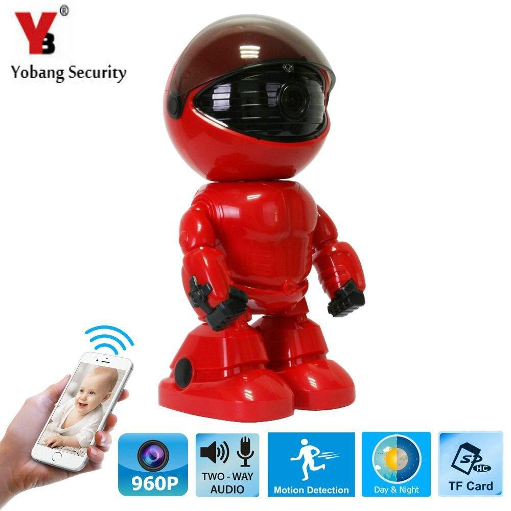 Yobang безопасности 360 градусов мини робот Wi-Fi Беспроводной P2P сети ip Камера свет Главная видеонаблюдения Системы для IOS