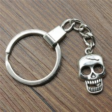 Keyring Skull Keychain 23x12mm Antique Silver Key Chain Party Souvenir Gifts For Women