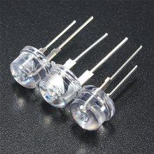New Arrival 20 sztuk 8mm słomkowy kapelusz LED woda przezroczysta żarówka diody świecące zestaw lampowy DIY diody zestaw niebieski zielony żółty czerwony biały tanie tanio Smuxi CN (pochodzenie) other Żarówki led 17mm-19mm