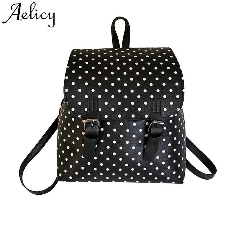 Aelicy Fashion Womens Dot Packet High Quality Women Wave Point Backpack Shoulder School Book Travel School Rucksack BagsAelicy Fashion Womens Dot Packet High Quality Women Wave Point Backpack Shoulder School Book Travel School Rucksack Bags