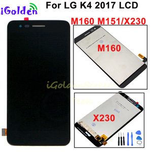 Image 1 - LCD Display For LG K4 2017 M160 X230 X230DSF LCD display With Touch Screen Digitizer Panel Assembly with Frame
