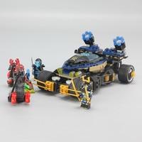 458 PCS 06046 Chariot Ninja Mini Figures Set Compatible With LegoLying Ninjagoes Building Blocks Toys for Kids