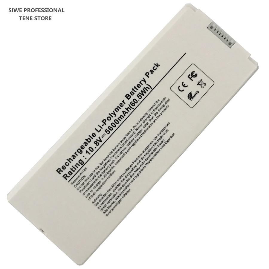 10.8 v 5600 mAh Nouvelle batterie de remplacement pour ordinateur portable A1181 A1185 pour Apple MacBook 13