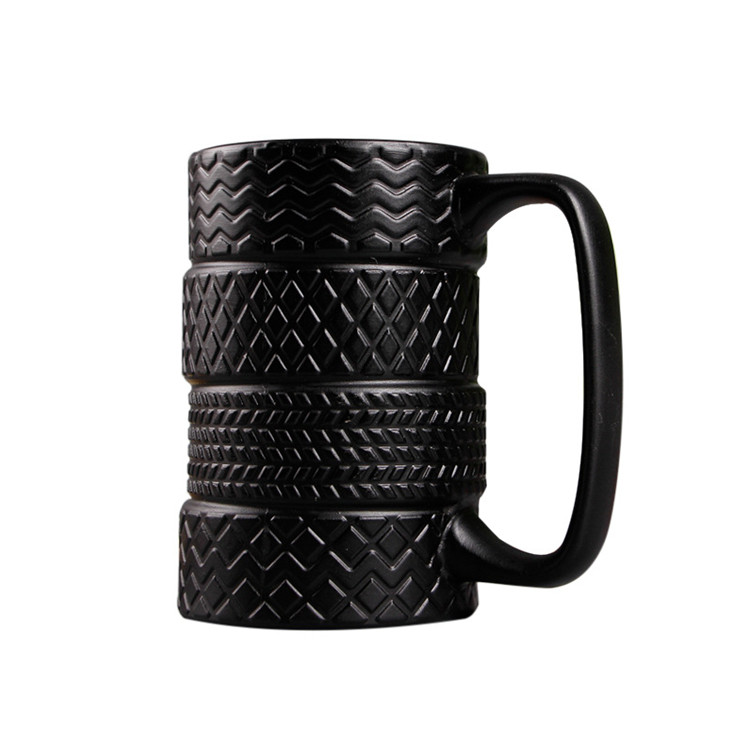 300ml Creative Tire Style Mugs Large Capacity Ceramic Mack Cups Personality Milk Tea Coffee Mug Non-slip Office / Home Water Cup