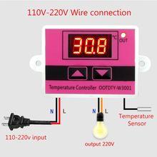 W3001 контроллер температуры AC110-220V микрокомпьютерный термостат цифровой светодиодный дисплей