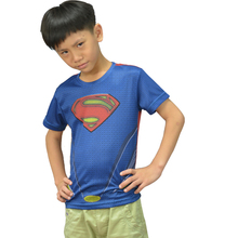 2016 New Children's clothes Compression quick-drying tight t-shirts short sleeve T-shirt breathable health