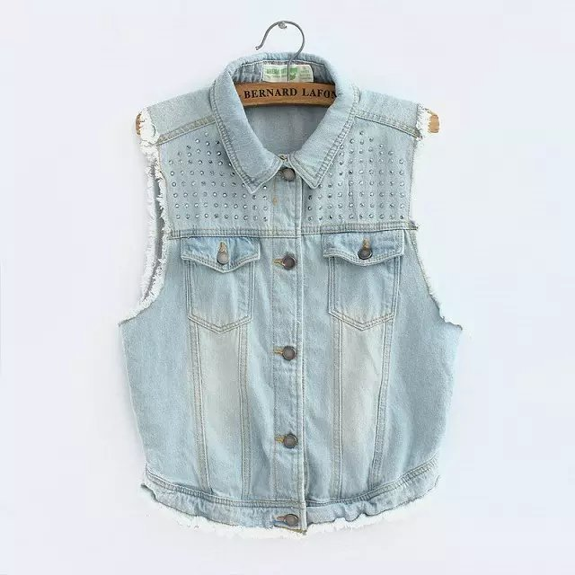 Women Denim Vest 2017 spring Style Cardigan Lady Denim Jean Vests Top Coats Plus Size Jeans Tops Women High Quality Vest Jacket