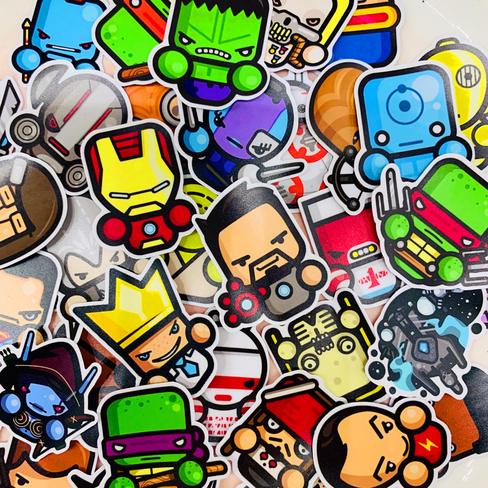 40pcs Mini Movie Character Kids Fun Paper Stickers Homemade Bookkeeping Decals On Laptop / Decorative Scrapbooking / DIY