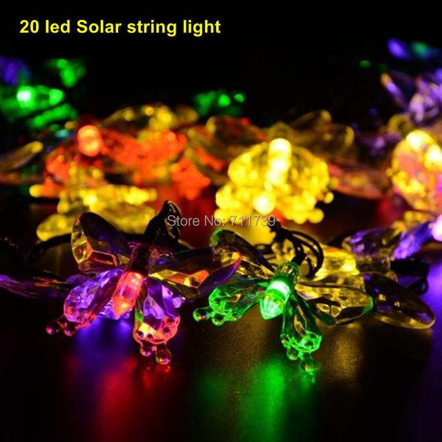 5set 20 led Solar powered outdoor christmas decorations lights garden lights Christmas flowers string lights garland