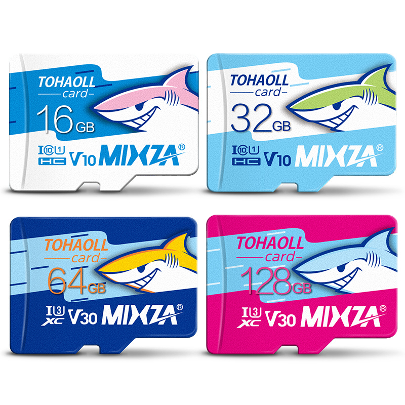 MIXZA HY carte mémoire 256 go 128 go 64 go U3 80 mo/s 32 go carte Micro sd Class10 UHS-1 carte flash mémoire Microsd TF/SD cartes