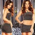 AFUMAN Feminino Hot sexy lingerie Halter backless Pacote hip perspectiva role-playing tentação translúcido roupa interior erótica