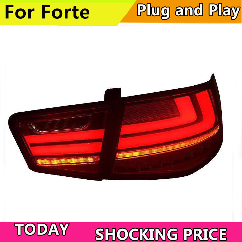 doxa Taillight for Kia Forte 2010-2013 Cerato LED Tail Lamp dynamic turn signal Rear DRL+Brake+Park+Signal led light