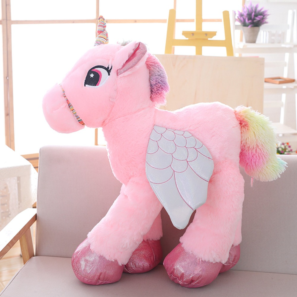 1pc 50 60 90cm Kawaii Unicorn Plush Toys Giant Stuffed Animal Horse