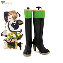 Lovelive Kunikida Hanamaru Cosplay Boots Love Live Sunshine Cosplay Shoes Custom Made Any Size цена и фото