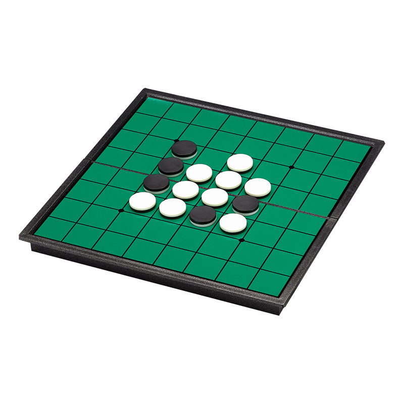 25cm Acrylic Magnetic Portable Folding Reversi Othello Board Chess Standard Educational Home parent child Family Game