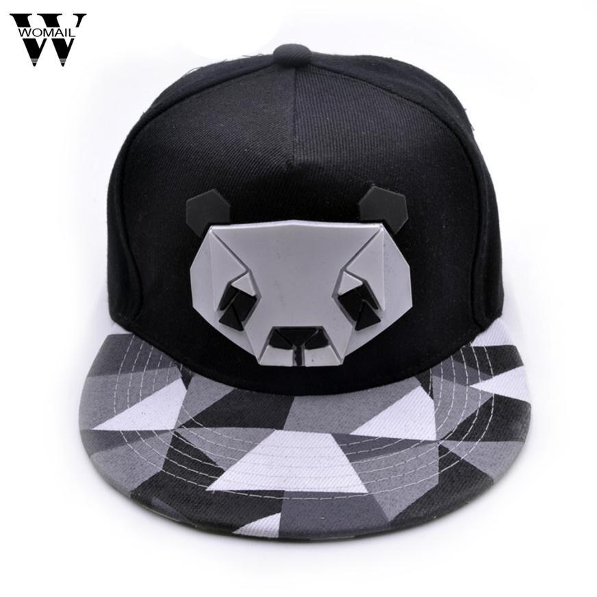 2017 Womens Sports Baseball Panda Cap Snapback Golf ball Hip-Hop Hat