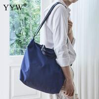 Black High Quality Women Men Handbags Canvas Tote Bags Reusable Cotton Grocery Shopping Bag Webshop Eco Foldable Shopping Cart