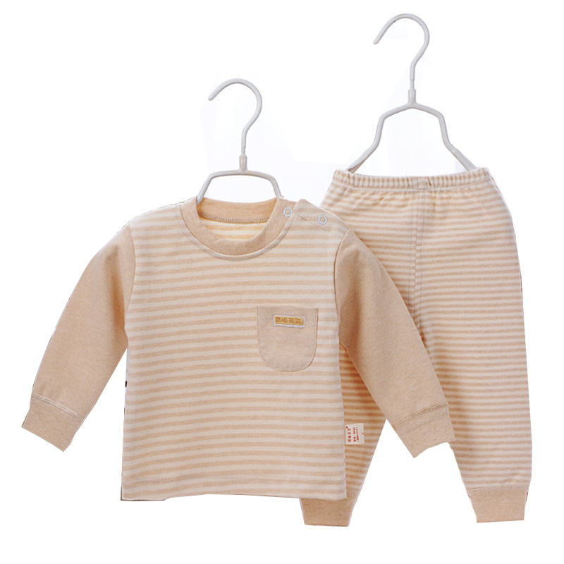 100% Organic Cotton High Quality Baby Shower Gift Warm Sweater+Pants Clothing Set For Infants simba organic cotton baby pillow