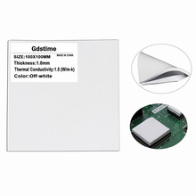 100X100x1MM White  50pcs set Conduction Heatsink Thermal Compounds Pad with Free Shipping