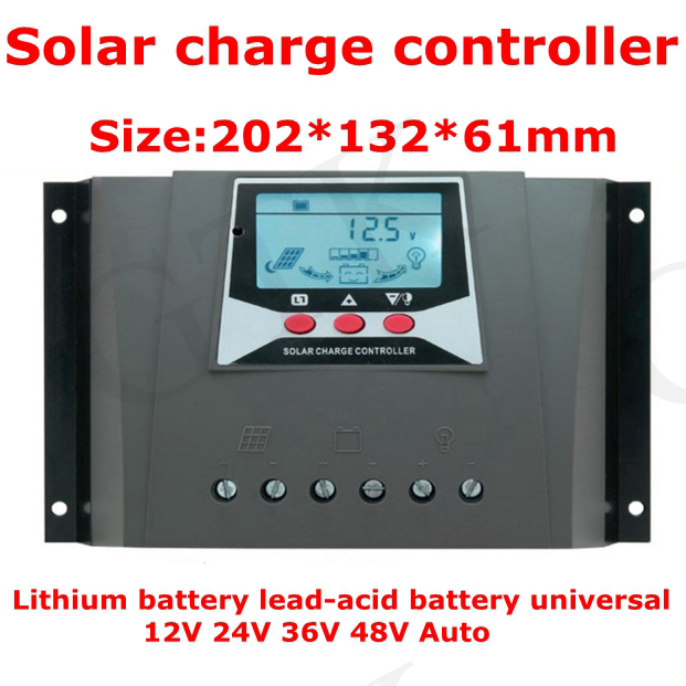 Accessories & Parts Solar Charge Controller 12v 24v36v 48v 50a Automatic Photovoltaic Solar Panel Controller Lithium Battery Lcd Screen Display Pwm Beautiful And Charming