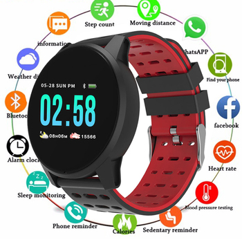 Wearfit Smart Watch W1 For Men Blood Pressure Heart Rate Fitness Tracker Pedometer Man Sport Smartwatches For Android IOS PK Q8