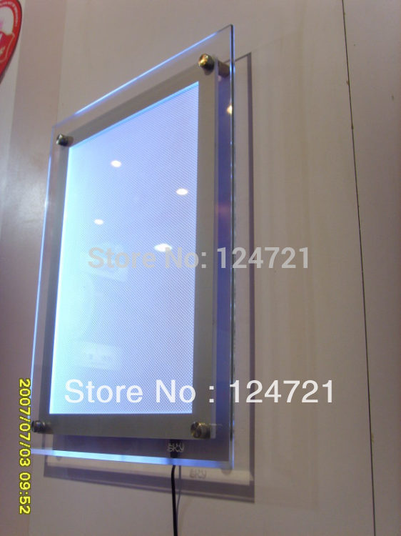 Acrylic A3 Size Wall Display Led Box Advertising Movie