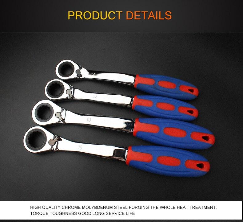 Купить с кэшбэком 72 Tooth Ratchet Special Opening Ratchet Wrench for Car Reapair Gear Spanner Handle Mechanical Torque Spanner