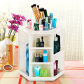 360 Degree Rotating Storage Box Case Plastic Cosmetic Jewelry Organizer Folding Makeup Storage Stand Holder