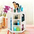 360 Grados Que Giran la Caja De Almacenamiento Caja De Plástico Plegables de Almacenamiento de Maquillaje Cosmético Del Organizador de La Joyería Del Sostenedor Del Soporte