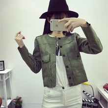 2016 Suede Coat New Autumn Jacket Women Slim Long Sleeve All-Match Short Coats Women' Jacket