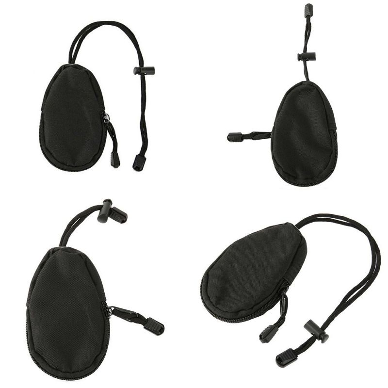 Mini Outdoor EDC Carrying Bag Portable Key Change Purse Wallet Travel Key Pouch With Inner Stainless Key Ring Hot Style