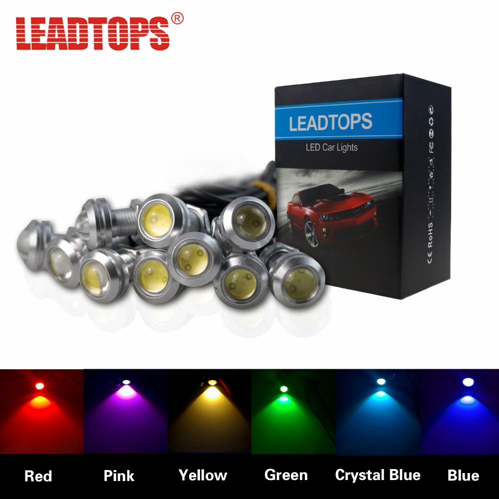 LEADTOPS 6pcs Eagle Eye Light 18/23MM LED DRL Daytime Running Lights For Car Work Light Waterproof Signal Parking Lamps AF leadtops 2pcs 23mm eagle eye led car drl fog daytime running light automobiles accessoires 12v for mazda audi toyota honda vw dj