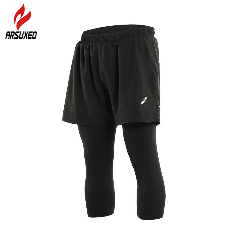 40ee8daac0394 ARSUXEO Summer 2 In 1 Men Women Running Tights Breathable Leggings  Compression GYM Fitness Training Jogging