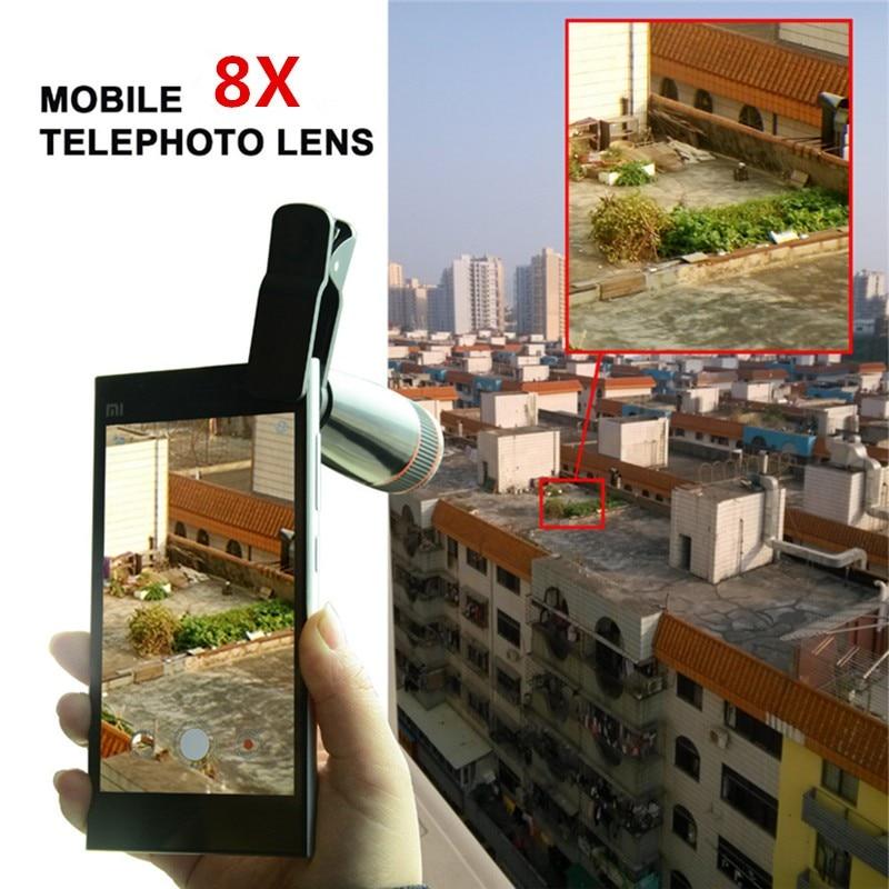 16 New 10in1 Phone Camera Lens Kit 8x Telephoto Lens + Wide Angle + Macro Lens +Fish Eye +Selfie Stick Monopod + Mini Tripod 5