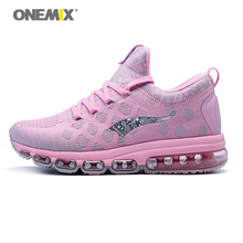 Onemix Air Cushion Women Gym Shoes Lady Sport Sneaker Zapatillas Sports Woman Trail Running Shoes Breathable Mesh Female Shoes