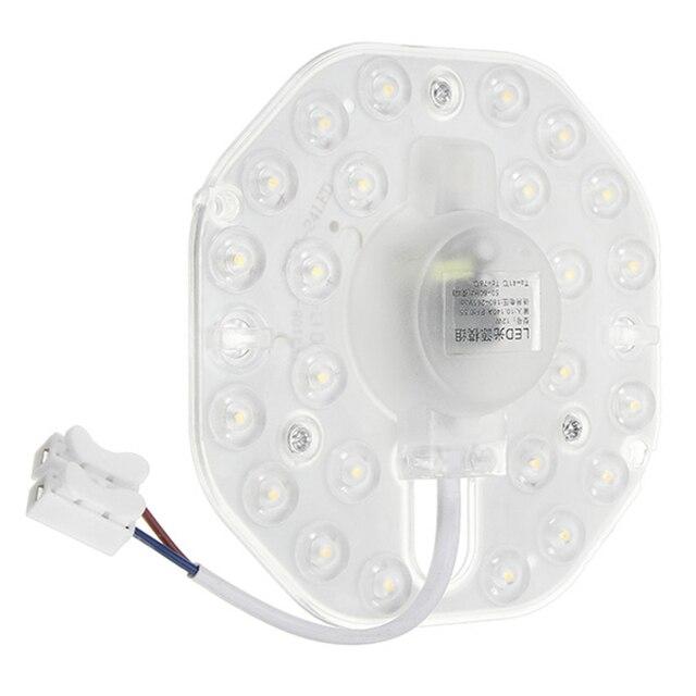 Anneau de cercle de panneau de LED allume 12W 18W 24W AC 220V SMD2835 blanc LED rond plafond optique lentille module panneau de lampe circulaire
