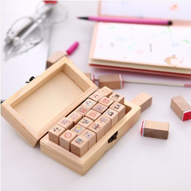 Cute cartoon seal diary  fashion stamps my love design 21pcs/set 11.5*4*6.5cm  free shipping