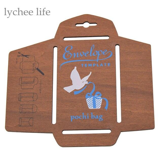 레트로 나무 봉투 템플릿 수동 스텐실 금형 DIY 수제 봉투 금형 공예