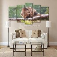 5 Sztuk HD Drukowane Zwierząt Lwy Malowanie Na Płótnie Dekoracji Pokoju Plakat Obraz Na Płótnie Malarstwo Unframed