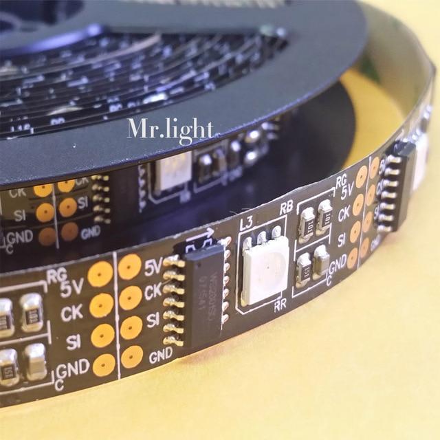 5M 16.4Ft WS2801 led pixel strip 5050 32led/m 160led digital magic RGB Dream color 5V White/Black PCB optional-NON WATERPROOF