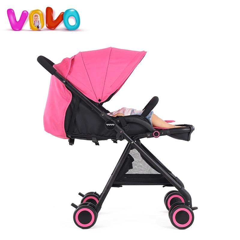 Luxury Stroller ultra lightweight high landscape can be folding umbrella car can sit can lie baby stroller baby stroller childre