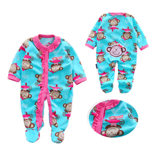 hot deal buy autumn baby rompers christmas baby boy clothes newborn clothing polar fleece baby girl clothes roupas bebe infant baby jumpsuits