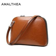 Фотография AMALTHEA Brand Split Leather Womens Handbag Small Bag Women Leather Handbags Crossbody Bags For Women 2017 Shoulder Bag AMAS060