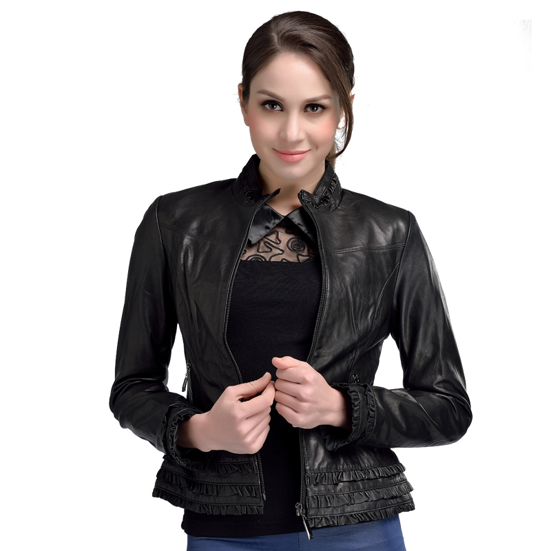 Plus Vestes Femmes Court Peau 4xl Véritable Mouton Women En Taille Jacket M Marque De Leather Luxe Dames La Cuir Mode Veste wIxXZ54