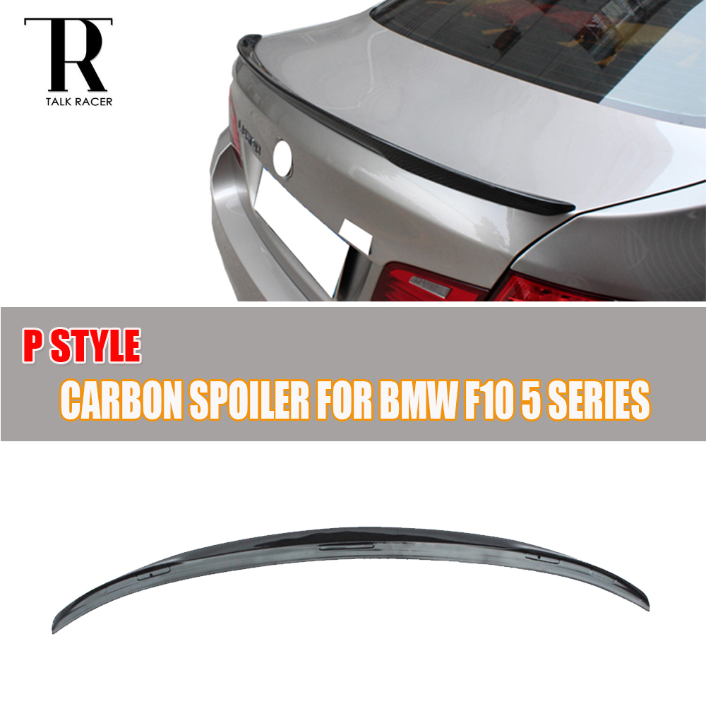 F10 M Performance Carbon Fiber Rear Trunk Boot Lip Wing for F10 520i 528i 535i 520d 525d F10 M5 2010 2012 2013 2014 2015 2016 carbon fiber nism style hood lip bonnet lip attachement valance accessories parts for nissan skyline r32 gtr gts