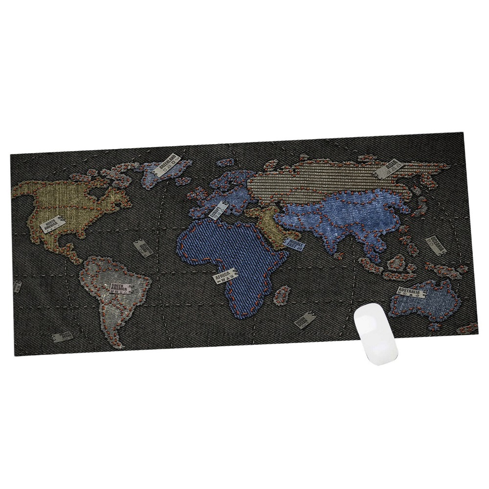 Супер большой размер 90x40 см скорость игры для мыши ноутбук карта мира Игровой Коврик Практические офисная отдыха поверхность Большой коври...