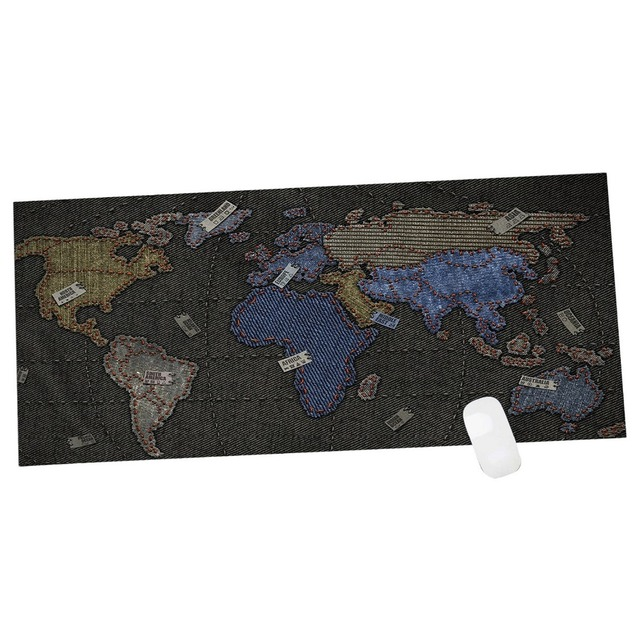 Super large size 90x40cm speed game mouse pad laptop world map super large size 90x40cm speed game mouse pad laptop world map gaming mousepad practical office desk gumiabroncs Gallery