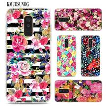 Transparent Soft Silicone Phone Case Beautiful Rose Peony Flower for Samsung Galaxy A9 A8 Star A7 A6 A5 A3 Plus 2018 2017 2016
